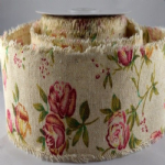 ROSE BURLAP RIBBON  77003 out of stock